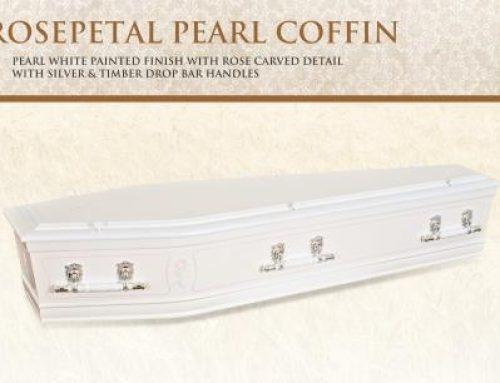 Rosepetal Pearl Coffin
