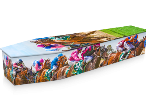 Thoroughbred Race Coffin