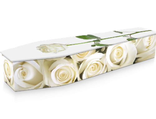 White Roses Coffin